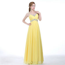 Yellow Long Wedding Applique Evening Prom Gown Cocktail Party Formal Blue Dress