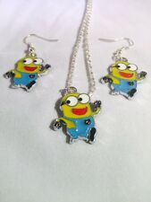 MINIONS NECKLACE AND EARRINGS SET HANDMADE