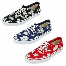 Vans Unisex Tropicoco Era Lace Up Plimsolls Canvas Pumps Floral Hawaiian Shoes