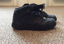 Nike Air Force 1 Mid Black Trainers Men's - Size UK 9
