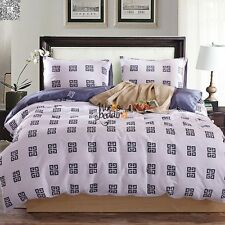 100% Cotton Quilt/Doona Cover Set Single/Queen/King Size Bed Linen Duvet Covers