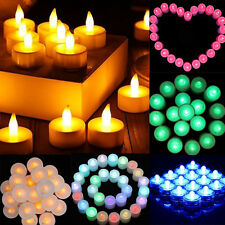 36 Flameless Battery Christmas LED Tea Light Flickering Amber Tealights Candles