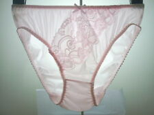 Vintage Sexy Sheer Lace Nylon Panties Hi-Cut Briefs Knickers Women Lingerie L/7