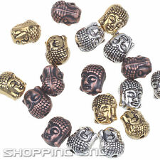Wholesale Metal Buddha Head Bracelet Connector Charm Beads Silver Gold Copper