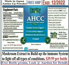 """Active Hexose Correlated Compound AHCC """"60 1500mg Tablets"""" PURE IMMUNE SUPPORT"""