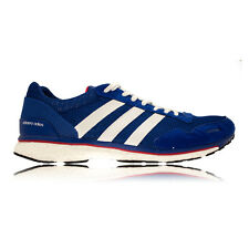 Adidas Adizero Adios 3 Mens Blue Cushioned Running Sports Shoes Trainers