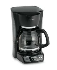 New Black Mr. Coffee® 12-Cup Programmable Hot Coffee Pot Maker Glass Carafe