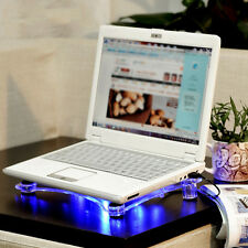 PC Notebook USB Cooler Cooling Pad Stand LED Light Fans Radiator for Laptop