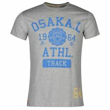 Osaka Mens Gents Laundry T-Shirt Crew Neck Short Sleeve Clothing SIZES TO M 2XL