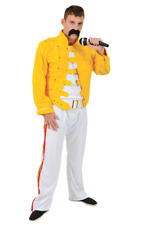 Freddie Mercury Queen Fancy Dress Costume 80s Wembley Rock Mens