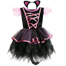 Baby Kids Girl's Tutu Party Dress Headband Halloween Cosplay Costume Dance Wear