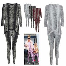 NEW LADIES POM POM SNAKE PRINT  TRACKSUIT WOMENS JOGGING LOUNGE SET SIZE 8-24