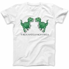T-Rex Hates High Fives Dinosaur T-Shirt 100% Premium Cotton Funny Gift Present