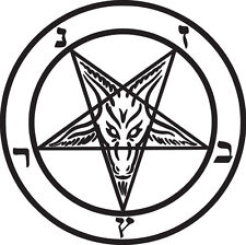 Baphomet Vinyl Sticker Decal Pagan Knights Templar Goat - Choose Size & Color