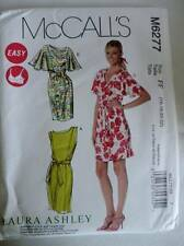 McCALLS SEWING PATTERN M6277 LAURA ASHLEY MISSES LINED DRESSES  SIZES 8-22 UNCUT