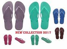 ORIGINAL HAVAIANAS NEW COLLECTION 2017 COLOURS SLIM WOMENS FLIP FLOPS SANDALS