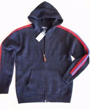 New Polo Ralph Lauren Boys Wool/Angora Knitted Hooded Zip Sweater Exclusives L