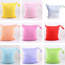 Reusable Washable Baby Kid Diaper Storage Zipper Holder Nappy Tote Wet Dry Bag