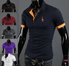 Casual Style Hot Mens Tops Tee Slim Fit POLO Shirt Short Sleeve Fashion T-shirt