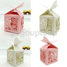 Wedding Favours Sweets Cake Cokkie Gift Boxes Bags with Delicate Laser Cut Decro