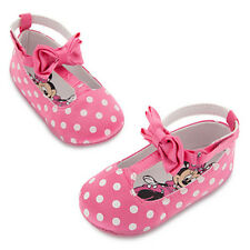 NWT Disney Store Minnie Mouse Mary Janes Pink Baby Costume Shoes 6 12 18 24 mo