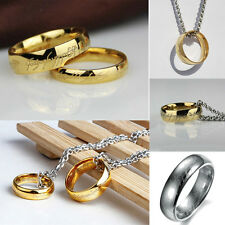 Lord of the Rings The One Ring & Chain Costume Jewellery Noble Gift Gold Plated