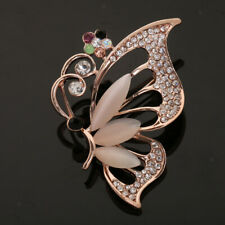 Womens Vintage Alloy Bronze Rhinestone Crystal Brooch DIY Wedding Bouquet Access