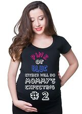 Pink or Blue Pregnancy T-shirt Boy Maternity Tee Shirt funny gift for future mom
