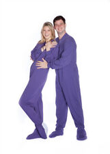Big Feet Pjs Purple Cotton Jersey Knit Adult Footed Pajamas Onesie