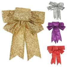 1pcs Sequin Bowknot Xmas Tree Ornament Bow Hanging Decoration for Christmas