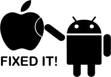 Android - Fixed It - Vinyl Car Window and Laptop Decal Sticker