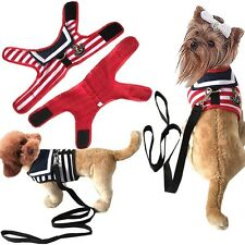 Pet Harness Dog Cat Walking Lead Leash Collar Strap Strip Vest Apparel Clothes