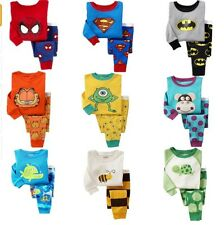 New Baby Boys girls cute spring pyjamas 100% Cotton sets from 9M-4yrs