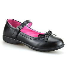 Girls Kids New Childrens Formal Smart Casual Mary Jane Back To School Shoes Size