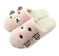 Cozy Bear Slippers pink cute plush women girls