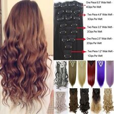 100% Natural Remy Clip in Hair Extensions 8 Piece Full Head Curly As Human H811