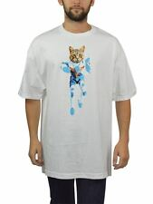 AUTHENTIC OFWGKTA 'ODD FUTURE ROB CAT' SCREEN PRINTED MEN'S TEE IN WHITE