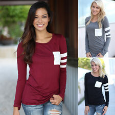 Fashion Women Lady Casual Loose Tops Long Sleeve T-shirt Summer Blouse Hot Sale