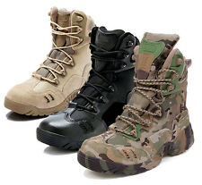 High Top Camo Tactical Boots Camping Hiking Hunting Boots Climbing Desert Shoes