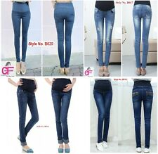 Maternity Pregnancy Jeans  Over Bump Trousers Clothes Size 6 8 10 12 14 16 -B4