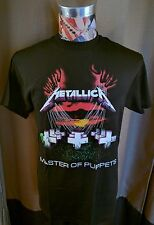 BRAND NEW METALLICA MASTER OF PUPPETS MULTICOLOR CEMETERY BLACK ROCK T SHIRT