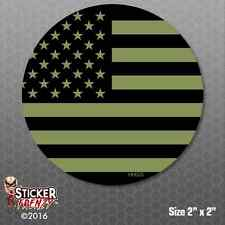 Subdued Green Flag Hard Hat Sticker PACK #HH025 USA Vinyl Decal Tool box