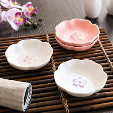 Cute Porcelain Soy Sauce Dish Sushi Plate Dishes Wasabi Bowl Ceramic Pink 3.5""