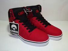 Osiris Brand Boys or Girls Red Black Canvas High Top Shoes Size 4 New