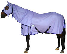 CARIBU ENDURO FLY AIR MESH Attached Hood Horse Rug, Cool Strong 410gsm, PURPLE