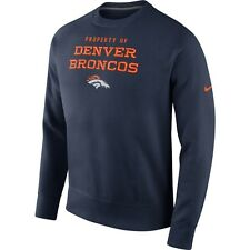 NEW MEN'S NIKE DENVER BRONCOS STADIUM CLASSIC CLUB NAVY CREW SWEATSHIRT!!! $65!!