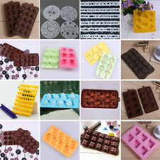Chocolate Cube Ice Maker Tray Mould Mold Bar Silicone Freeze Cake Jelly