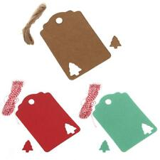 100pcs Christmas Tree Kraft Paper Label Christmas Hang Tags Gift Cards Wedding