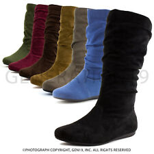 Forever Girls Side Zipper Faux Suede Boots Selena 23K (Toddler 9 10, Youth 11-3)