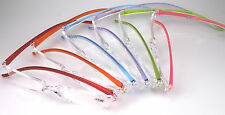stylish Reading glasses in 6 fashionable Colors 5 Strengths Vision aids rimless